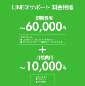 LINEサポート料金案内